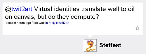 Virtual identities translate well to oil on canvas, but do they compute?