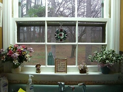 Spring windowsill