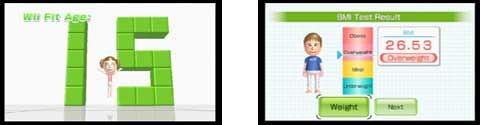 WiiFit Screens 1