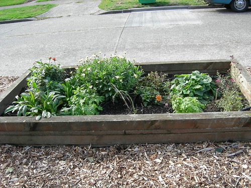 Tidy raised bed
