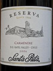 Santa Rita Reserva Carmenere (2006)