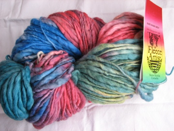 Fleece Artist wool slub multi