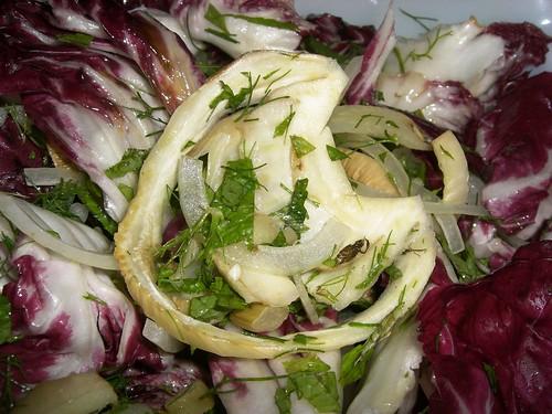 Roasted Fennel & Lemon, Radicchio, Chile & Mint Salad