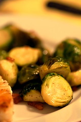 Brussels sprouts with pigs and vinegar