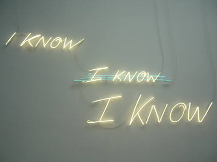'I know, I know, I know', by Tracey Emin