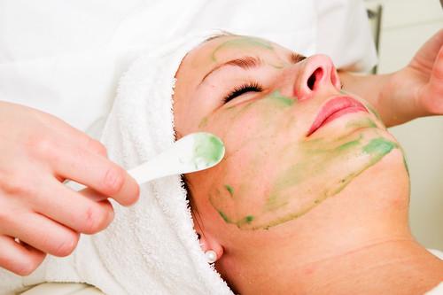 applying cosmetics