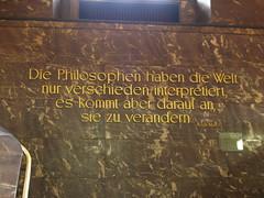 die philosophen haben die welt nur verschieden interpretiert, es kommt aber drauf an, sie zu verändern.