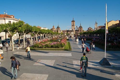 Una tarde cualquiera en la plaza de Cervantes