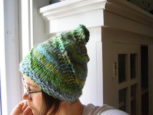 handspun spiral hat