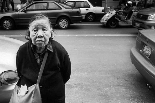All I Ever Wanted From You Is a Smile - Alapan San Francisco street photography Chinatown M6 TTL