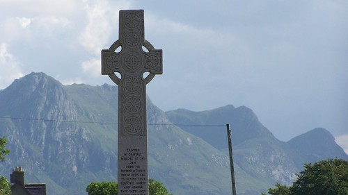 War memorial in the town of Tongue with Ben Loyal