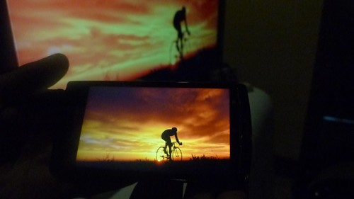 Xperia Arc back-to-back with Sony Bravia