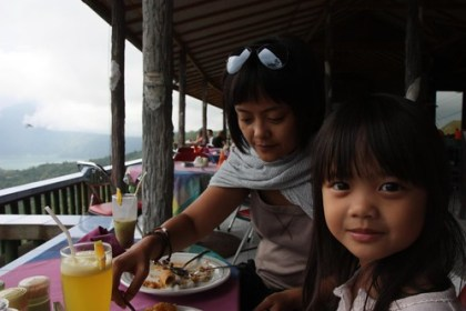 lunch looking over kintamani
