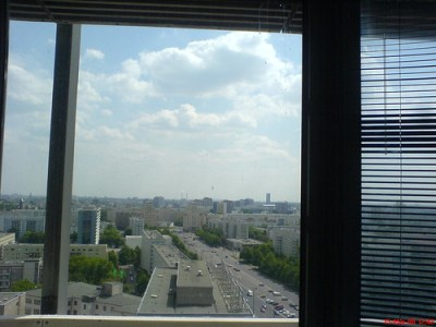 Blick aus meinem neuen Büro. 15. Stock am Alex. Das #Weekend als Nachbar im Rücken.