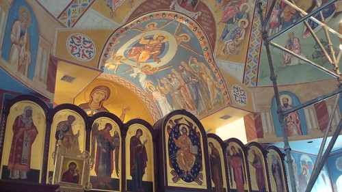 Iconography in St. Seraphim Cathedral...