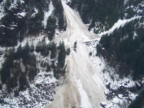 SR 20 Snow Slides by Washington State Dept of Transportation.