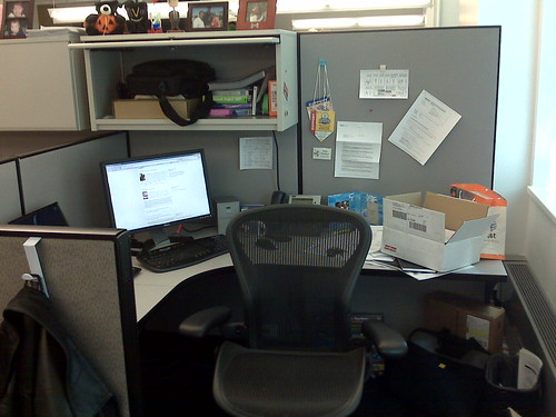 Overall of desk/cube