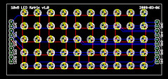10x5 LED Matrix PCB