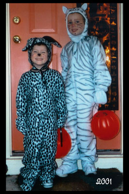2001 Dalmatian and White Tiger