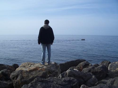 Un moment de calma a la caleta de Valldemossa