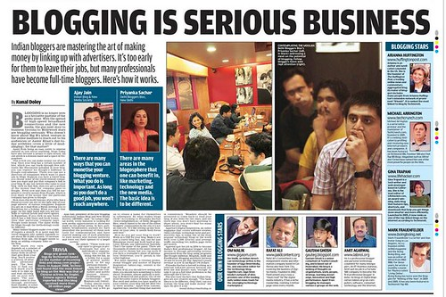 Mail Today Blogging is Serious Business