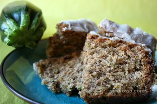Zucchini-Olive Oil Cake with Lemon Crunch Glaze from Dolce Italiano