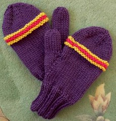 Lion Wool Mittens