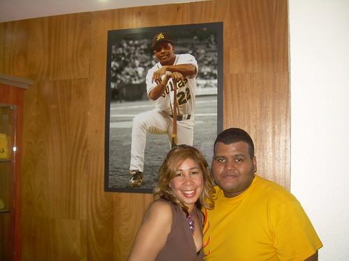 Grisbel y yo, en el Estadio Cibao