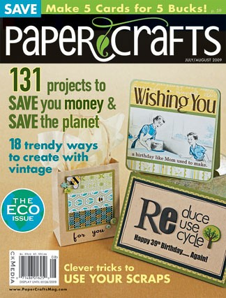This eco themed issue (all about saving money and the environment) is on sale today…check it out!