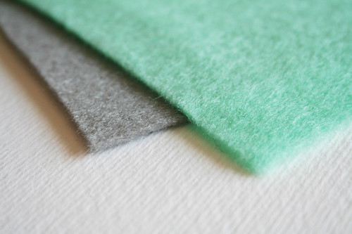 Mint and Grey Felt