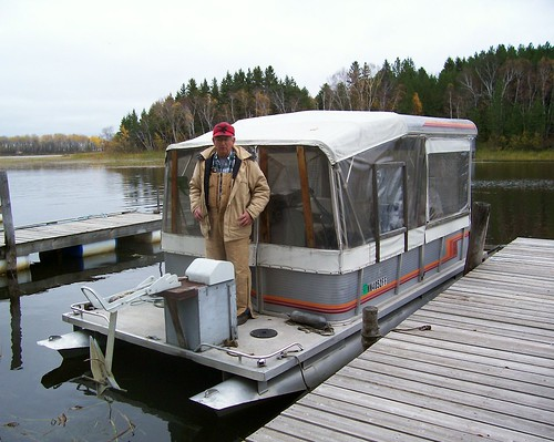 Willard with his pontoon.jpg