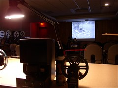 Setting Up For Home Movie Day 2007 - UpperValley (NH-VT)