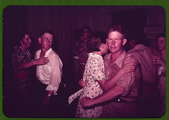 Couples at square dance, McIntosh County, Okla...