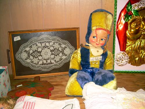 Doll, lace, santa