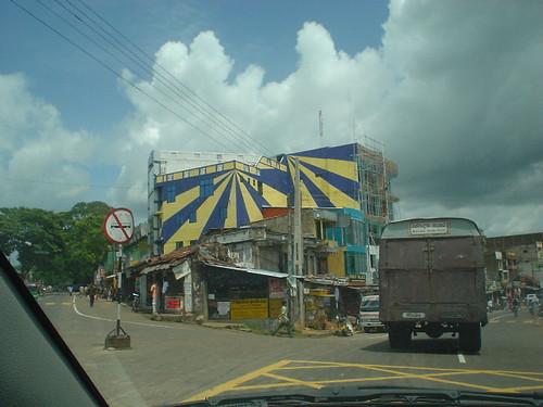 Funky Building on the road to Kuruagala at Narammala, Sri Lanka