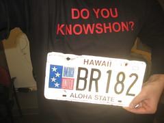 Knowshon Shirt and Hawaii plate