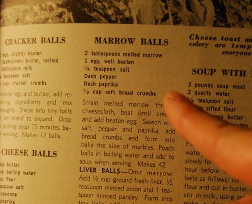 Mmmm... marrow balls