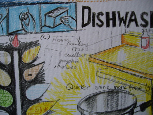 My own drawing of 1950s domestic imagery