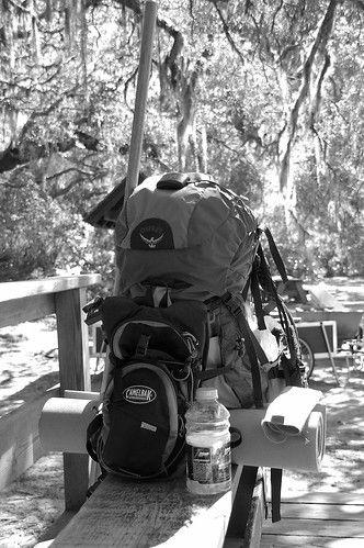 camping blackandwhite georgia backpacking cumberlandisland (Photo: potatonutz on Flickr)