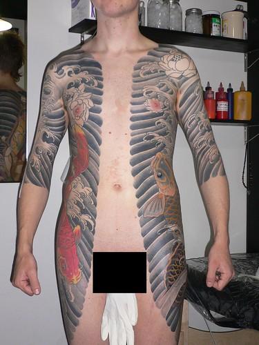 japonais. koi. tatouage. tattoo