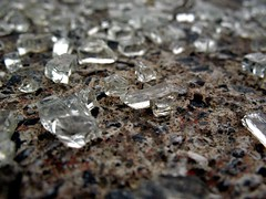 Close up of broken glass
