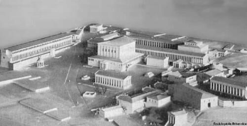 Maqueta del agora de Atenas