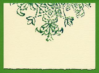 Evergreen Baroque notecard