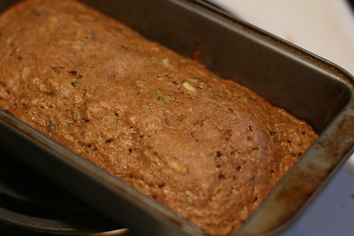 Zucchini Bread Fresh Out of the Oven