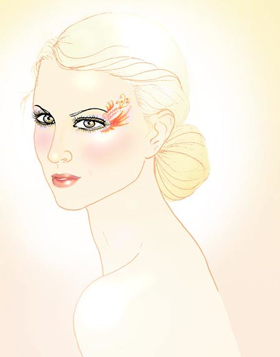 make-up-girl illo