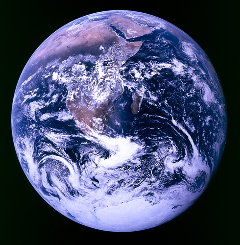 Earth, courtesy Apollo 17, and probably the mo...