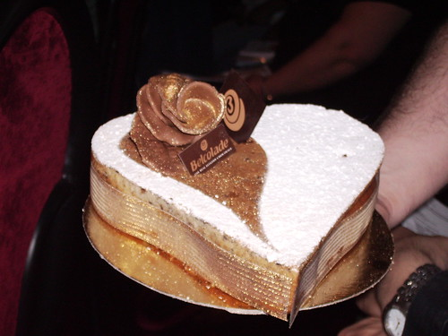 een van de taarten bij de demonstratie van Puratos