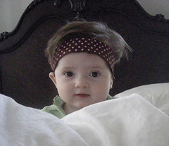 B in the Comforter with Headband