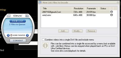 Divx Video Converter畫面