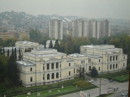 Vedere de la fereastra in Hotelul Holiday Inn in Sarajevo1